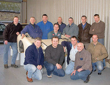 The TVR White Elephant team